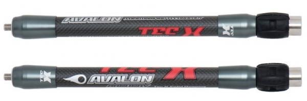 Estabilizador Corto Avalon Tec-X 21mm para Arco Compuesto (unidad) - Diseñada para arco compuesto con 21mm de diámetro en fibra de carbono de alta rigidez