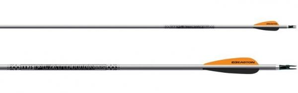 Docena Flechas Completas Easton XX75 - Incluyen culatines, puntas y están emplumadas