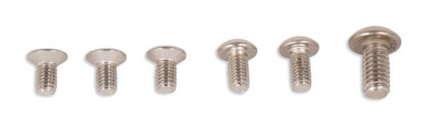 Repuesto de Tornillos para Dactilera - 6 tornillos para llave allen: 3 avellanados M3 + 2 cabeza redonda M3 + 1 cabeza redonda M5