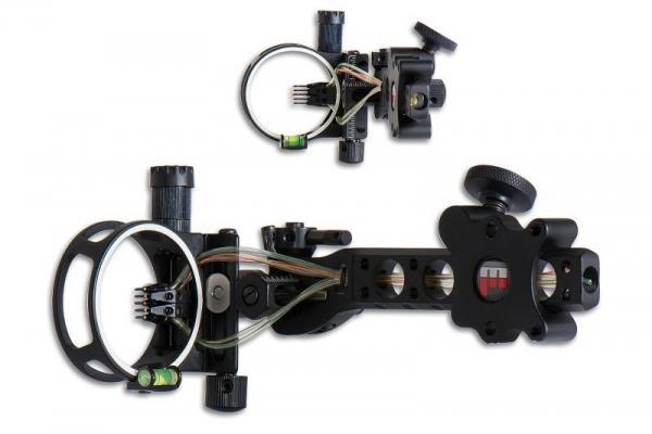 Visor caza Maximal Glow Micro 5 pines - Ajuste micrométrico de alza y deriva. Incluye linterna