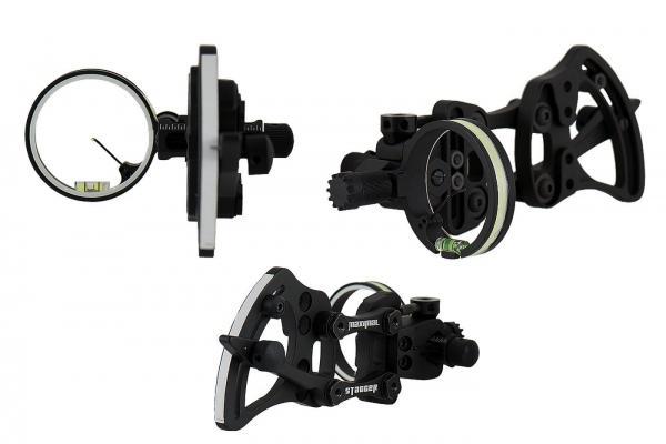 Visor caza Maximal Stagger Pivot con linterna - Fibra óptica 0.019