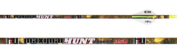 Flecha de Caza Carbon Hunter (docena) - Incluye culatín, inserto y viene emplumada con plumas Blazer. No incluye punta