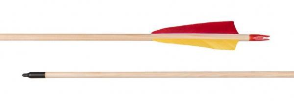 Flecha completa madera con pluma natural - Incluyen culatines, puntas y están emplumadas con pluma natural 4