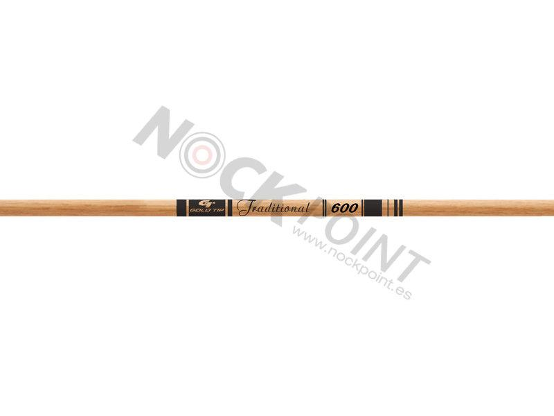 Tubo Gold Tip Traditional (unidad) - Incluye culatín e inserto (no incluye punta). Rectitud 0.006