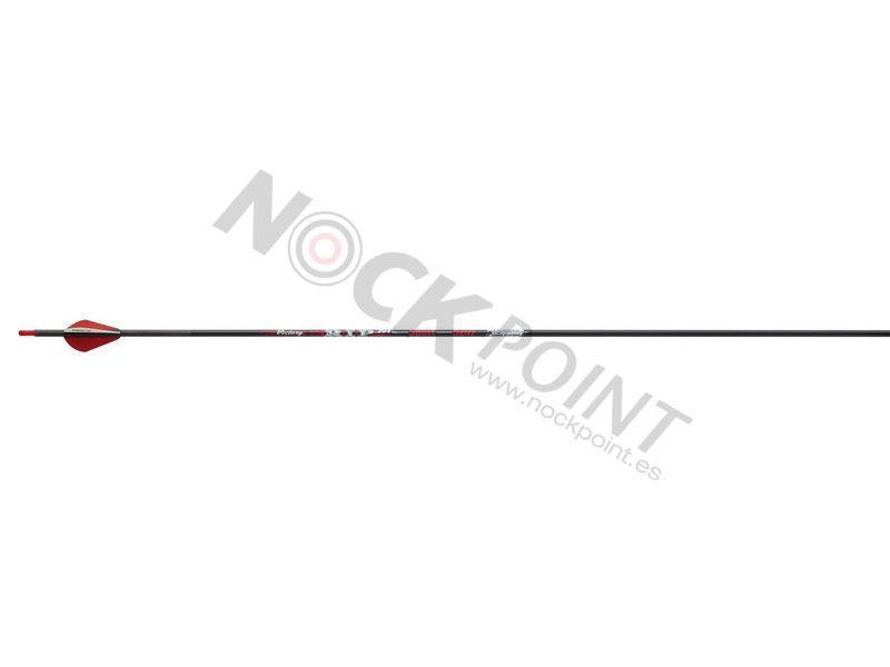 Flecha Victory RIP 204 V6 Sport (Unidad) - Incluye culatín, inserto y viene emplumada con plumas Blazer. No incluye punta