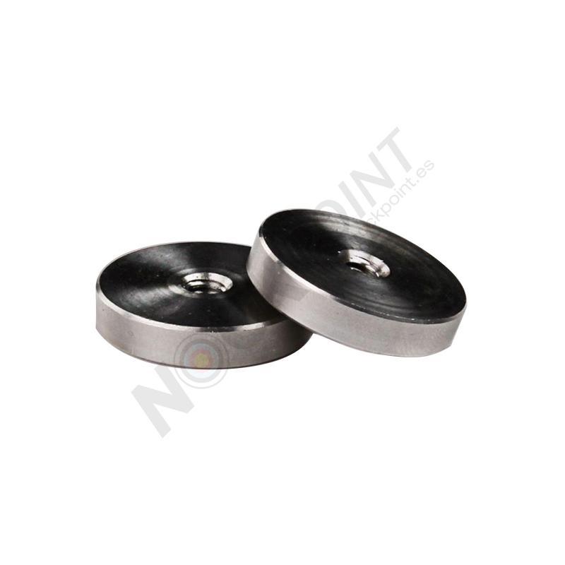 Peso MyBo Disco Simple de Acero Solido 1,32oz con Rosca 1/4