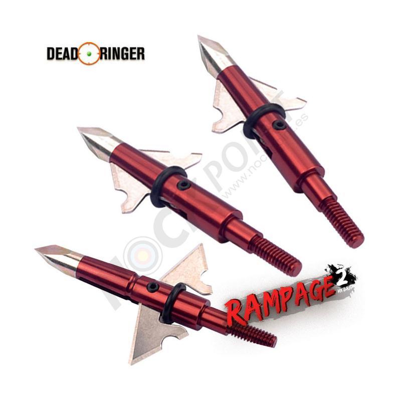 Punta de Caza Articulada Dead Ringer Rampage 100 grain (Pack 3 Unidades)