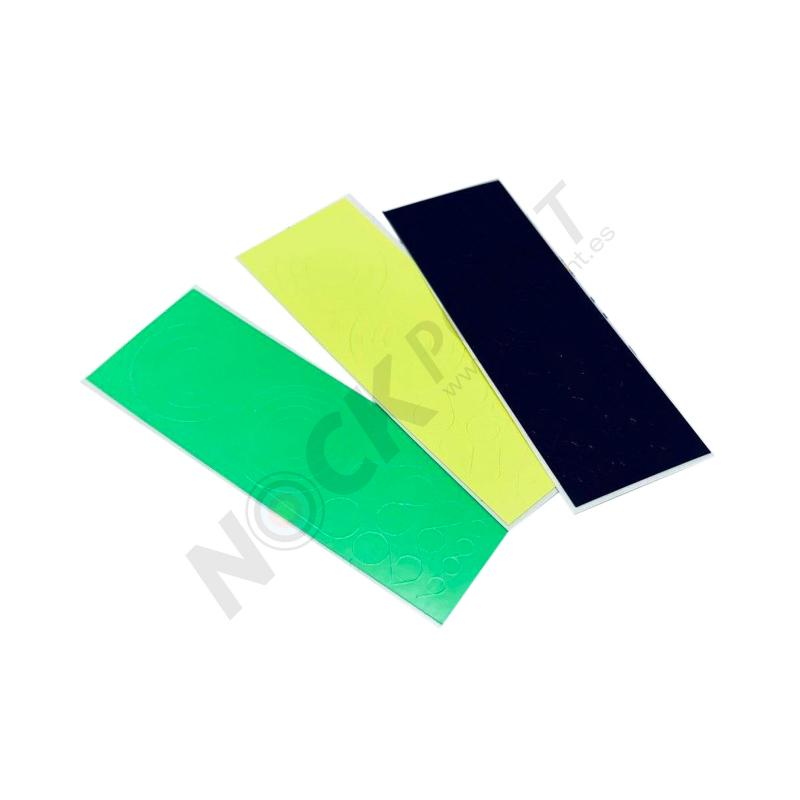 Pegatinas Gas Pro para Scope (Compuesto)  - Incluye 1x Negro, 1x Amarillo fluor, 1x Verde fluor