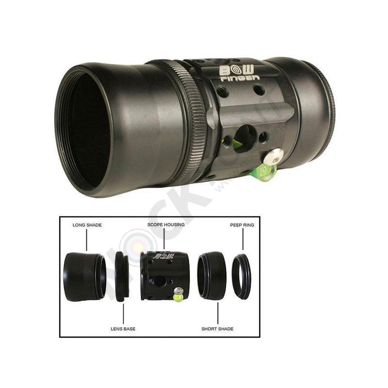 Scope Bowfinger 20/20 Scope Kit para Compuesto (COMPLETO con lente y kit fibra)