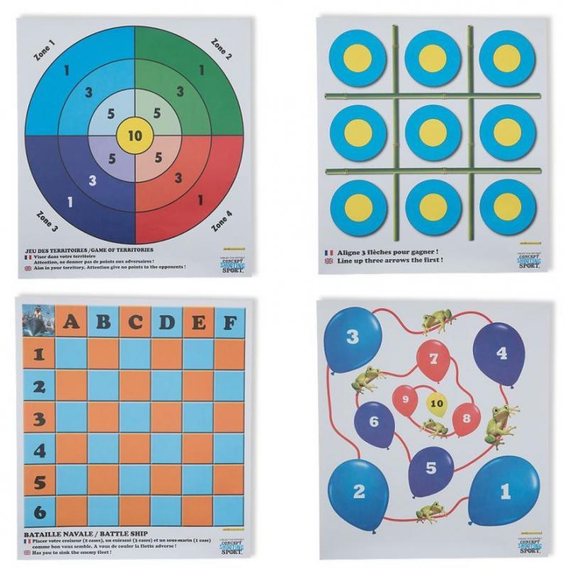 Diana Juegos (Pack 12 Dianas) - Incluye 3 dianas de cada uno de los 4 tipos (total 12 dianas)