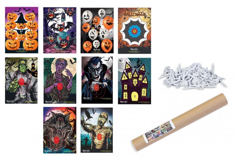 Diana Halloween (Pack 10 Dianas + 50 Pinchos) - Incluye 50 pinchos