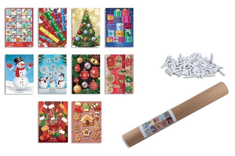 Diana Navidad (Pack 10 Dianas + 50 Pinchos) - Incluye 50 pinchos