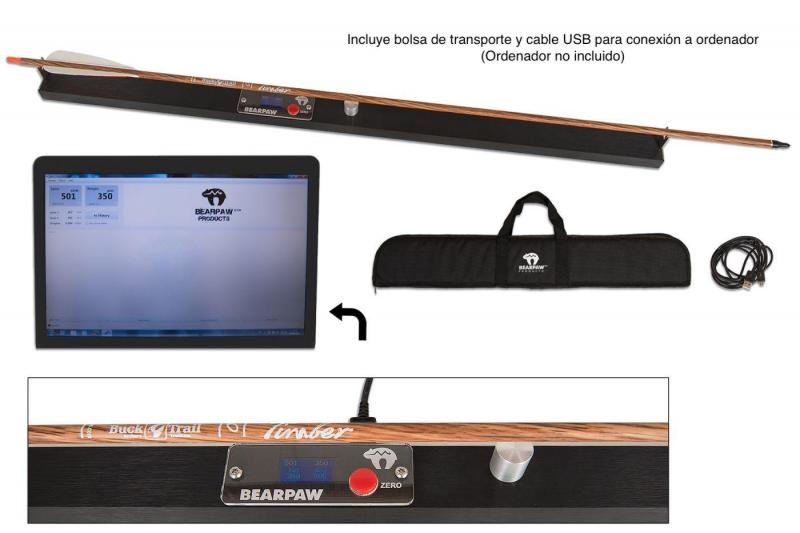 Bearpaw Arrow Analyzer (medidor de spine estático, peso y rectitud) -