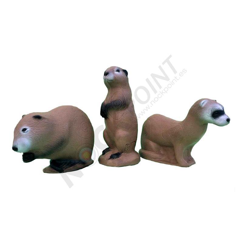 3D Target 3Di Family Pack MINK-MUSKUSRAT-PRAIRIE DOG