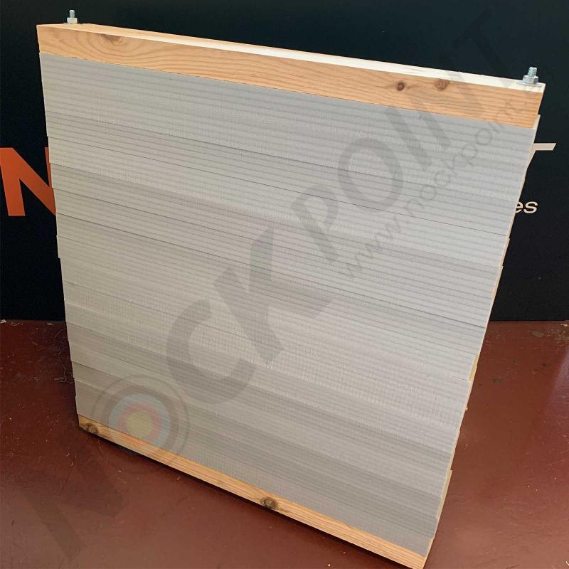 Parapeto Completo de Tiras de Foam (incluye Sistema de Prensado) 95x80x15/20cm