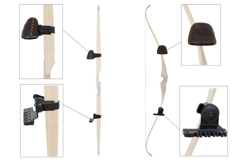 Carcaj de Arco Buck Trail para Arco Tradicional 5 Flechas Leather