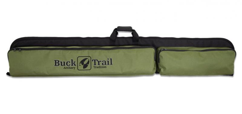 Funda Buck Trail negro-verde (Monoblock) - 160 x 27 cm (incluye bolsillo para flechas)