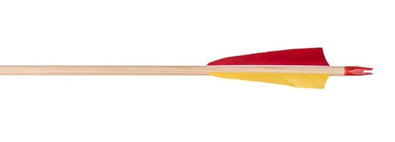Flecha Completa Madera con Pluma Natural